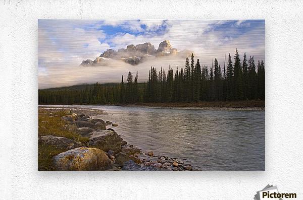 Mountain Landscape, Banff National Park, Alberta, Canada  Metal print