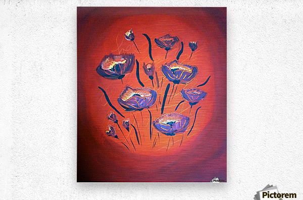 Poppy flower III  Impression metal