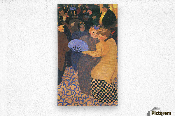 In the music hall by Felix Vallotton  Metal print