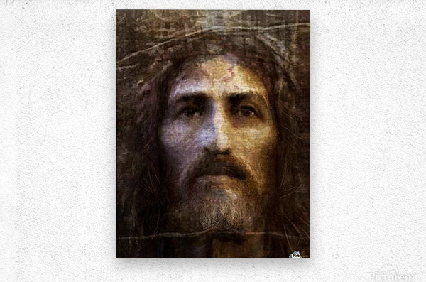 Christ face reconstruction  Metal print