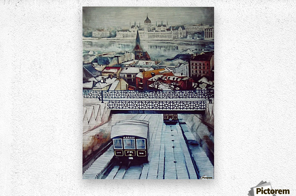 Nostalgia Cable Car in Budapest  Metal print