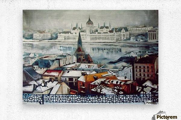 Budapest in wintertime  Metal print