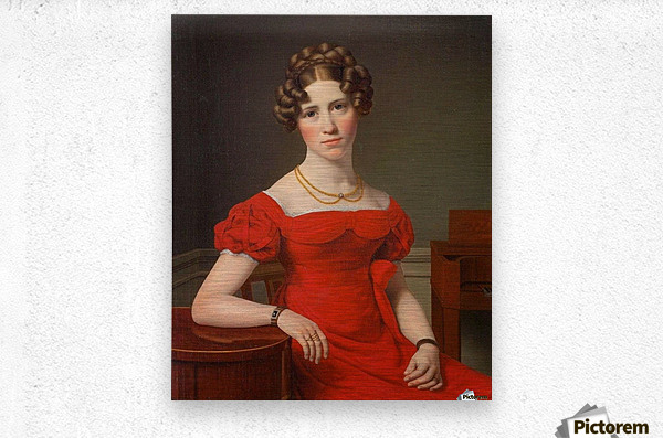 Portrait of Louise Christiane Fugl  Metal print
