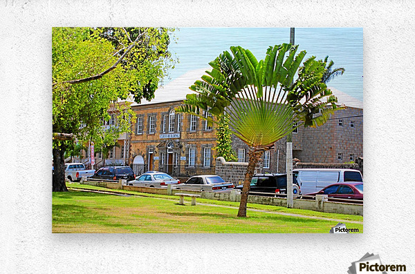 St Kitts Independence Square 3  Metal print