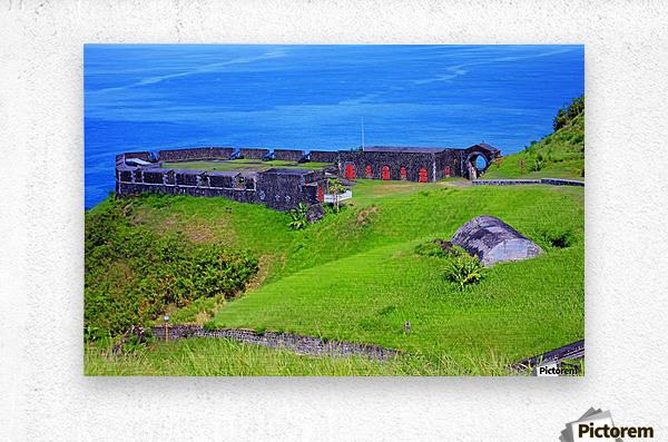 St Kitts Brimstone Hill Bastion  Metal print