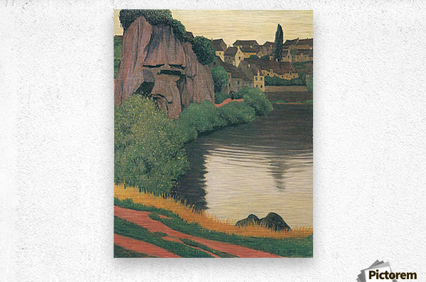 Landscape Semur by Felix Vallotton  Metal print
