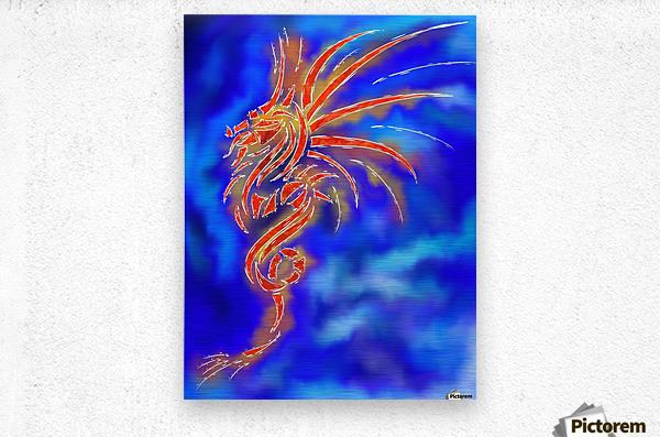 Essemios - furious dragon  Metal print
