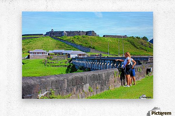 St Kitts Brimstone Hill 2  Metal print