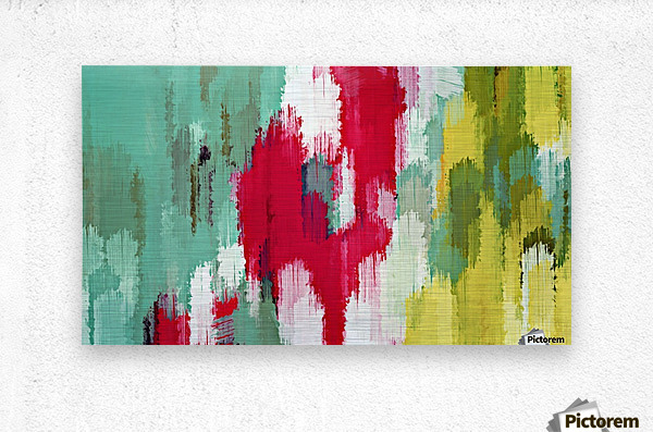 red green and yellow painting texture abstract background  Metal print