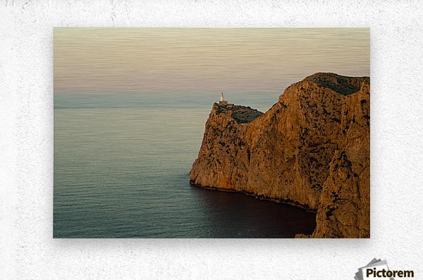 Views Of The Lighthouse At Sunset, Cap De Formentor, Mallorca, Balearic Islands, Spain  Metal print