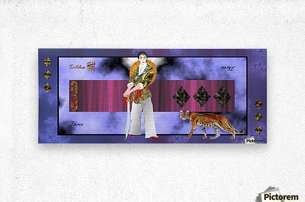 A3ThreeDiamondCard  Metal print
