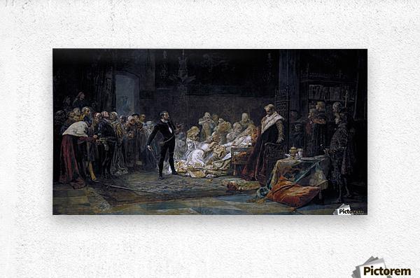 Ultima escena de Hamlet  Metal print