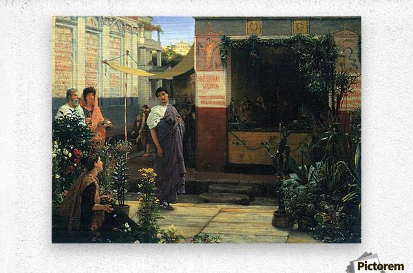 The Flower Market by Alma-Tadema  Metal print