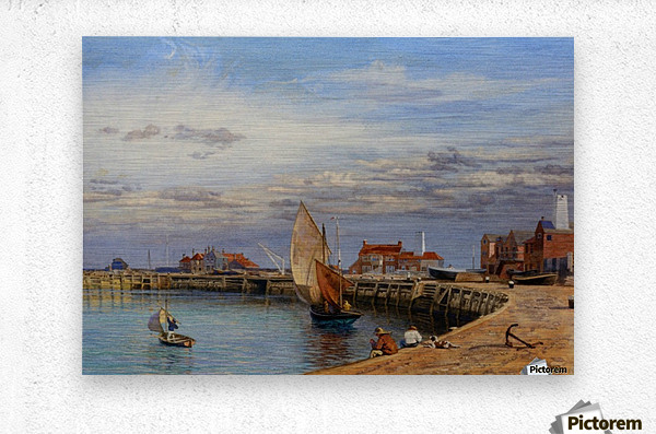 Entrance to Yarmouth Harbour  Metal print