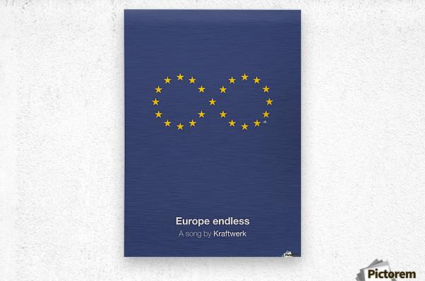 Europe endless  Metal print