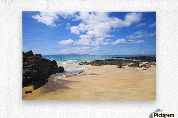 USA, Hawaii Islands, Maui, Maui Wai Or Secret Beach; Makena  Metal print