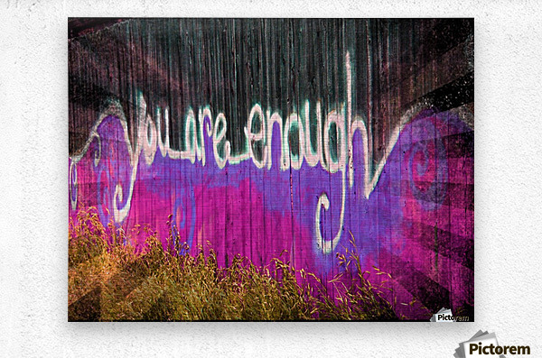 You are enough- okc  Impression metal