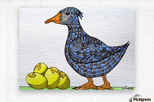 Goose and Golden Eggs  Metal print