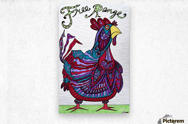 Free Range Edgar  Metal print