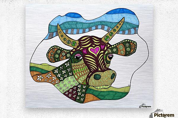Elsie Cow  Metal print