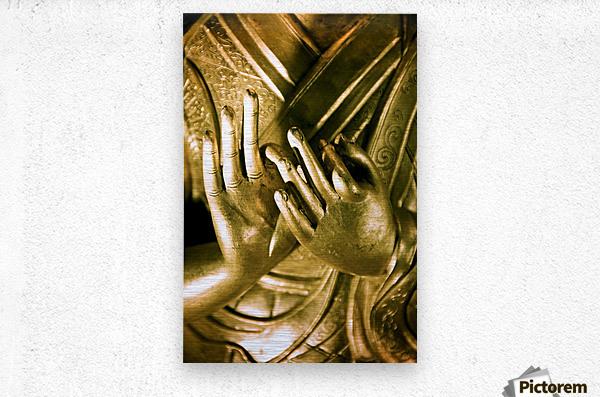 China, Buddha Hands Found On Hollywood Road; Hong Kong  Metal print