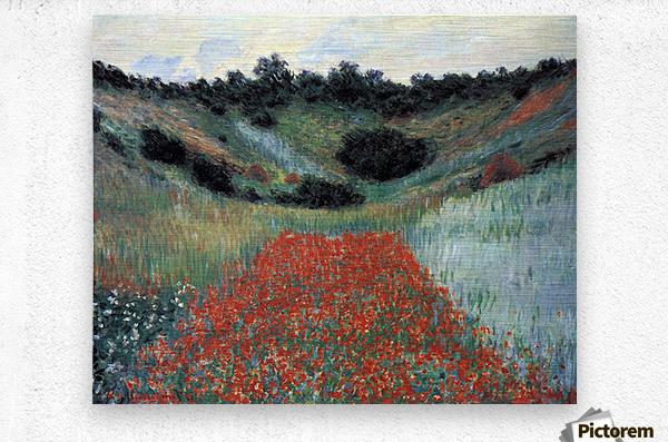 Poppy field in Giverny by Monet  Metal print