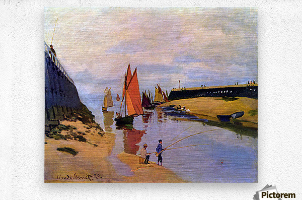Port of Trouville by Monet  Metal print