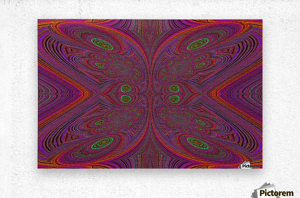 Digital Butterfly Purple Orange   Metal print