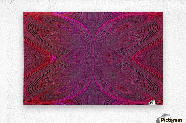 Digital Butterfly Pink Red   Metal print