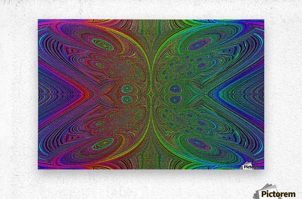 Digital Butterfly Rainbow 1  Metal print