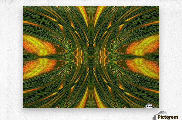 Green Mystical Butterfly 1  Metal print