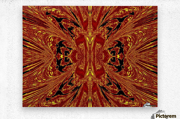 Red Yellow Butterfly  Metal print