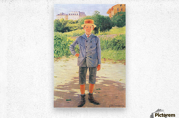 Portrait of a young Delisle by Felix Vallotton  Metal print
