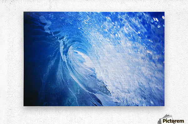 Hawaii, Oahu, Perfect Wave At Pipeline.  Metal print