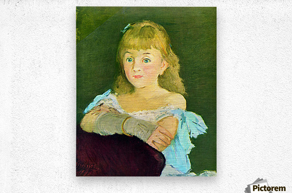 Portrait of Lina Campineanu by Manet  Metal print