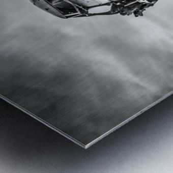 Plane wreck B&W Metal print