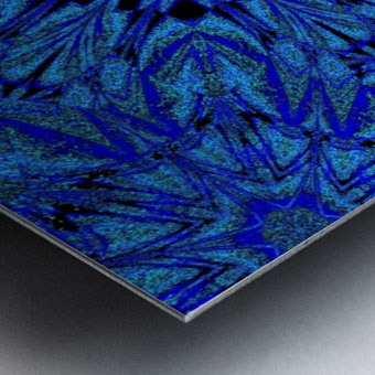 Electric Blue 1 Metal print