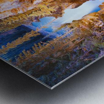 Athabasca Falls At Dusk, Jasper National Park, Alberta Metal print