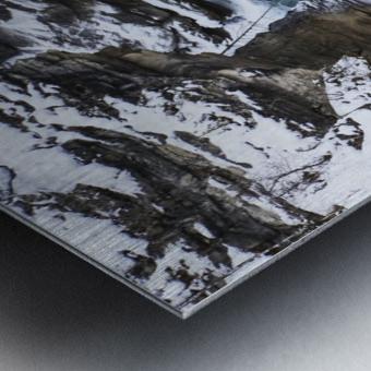 Athabasca Falls in winter, Jasper National Park; Alberta, Canada Metal print