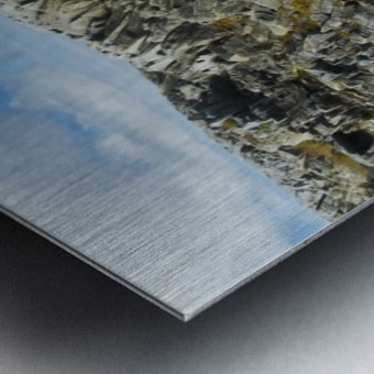 Shoreline along the Bay of Fundy, near Pubnico; Nova Scotia, Canada Metal print