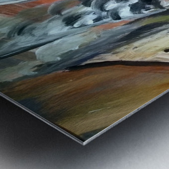 abstact canvas acrylic  Metal print