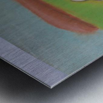 White mouse Metal print