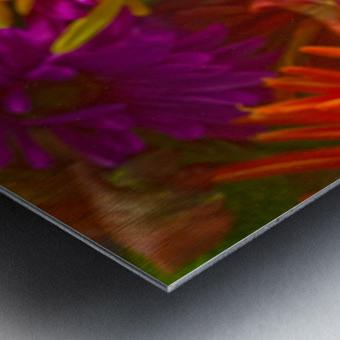 FLOWERS REFRACTION 12 Metal print