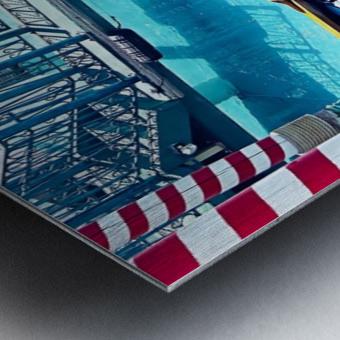 Classic Gondola boat and blue water Metal print