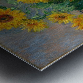 Still Life with Sunflowers by Monet Metal print
