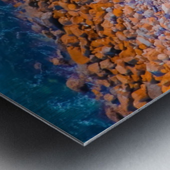 ocean with blue water and rock in summer Metal print