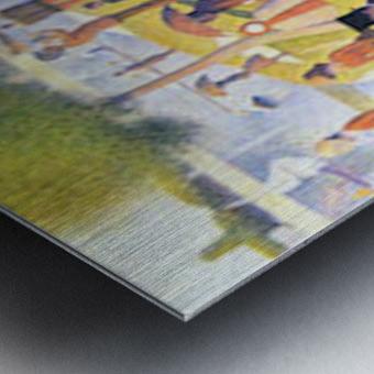Sunday at La Grande Jatte by Seurat Metal print