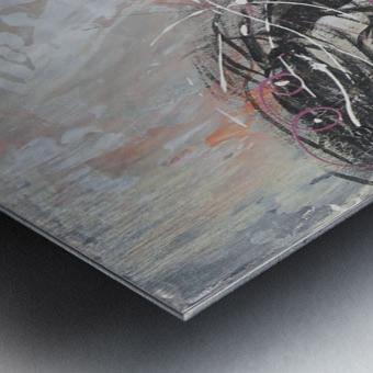 Le Vent Metal print