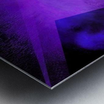 Geometric Abstract B Metal print
