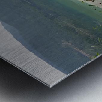 Crystal Clear White Lake Metal print